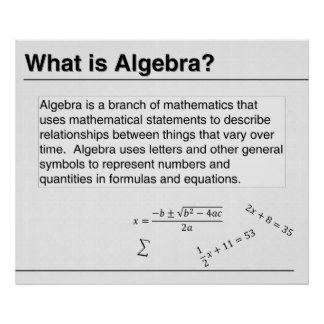 Algebra - What is it