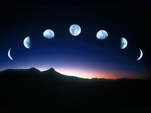 Earth's Moon in sky