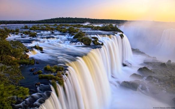 Iguazu Falls, on the border of Argentina and Brazil