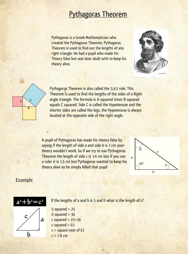 Pythagoraen Theorem Source