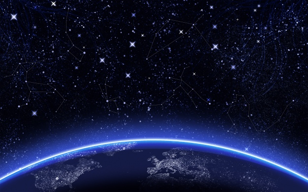 Sparkling Constellations above the Earth