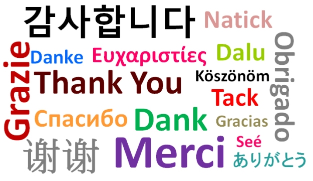 Thank You in 17 languages