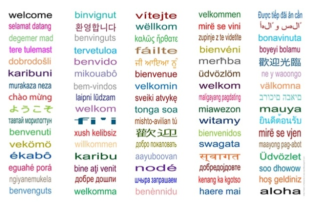 Welcome in 80 Languages
