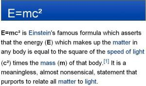 E = mc2 - Meaning