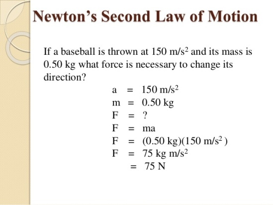 Newton's Second Law of Motion - Example
