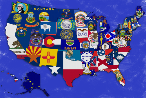 USA - Flags of 50 States