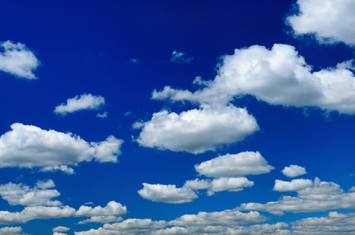 Clear Blue Sky And Clouds Panorama