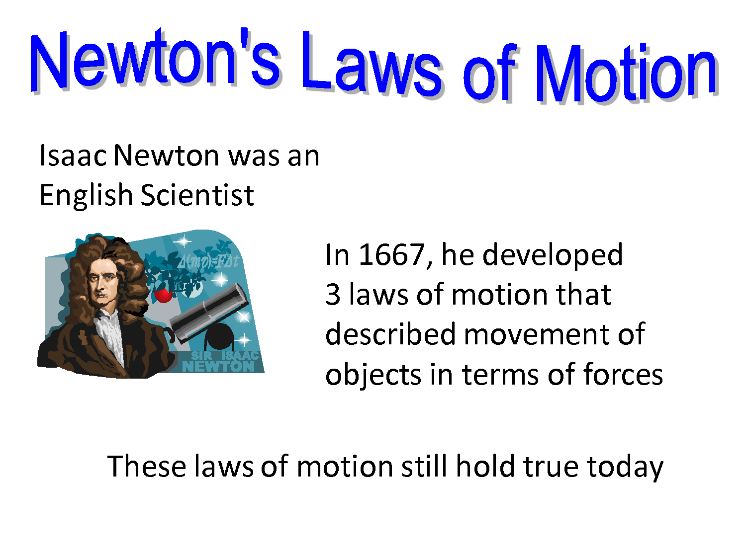 Three Laws of Motion by Sir Isaac Newton | Know-It-All