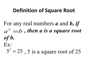 Square Root Definition
