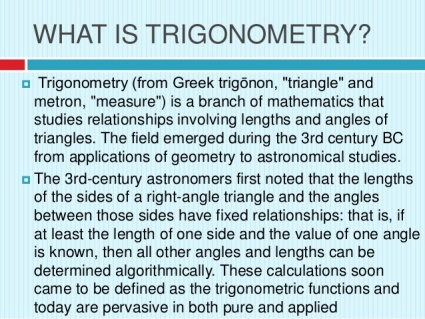 What is Trigonometry