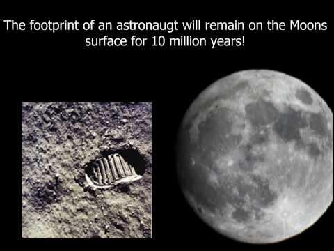 Footprint of an Astronaut on Moons
