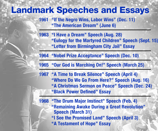 dr martin luther king jr honoring the dream know it all martin luther king landmark speeches and essays