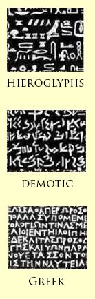 Rosetta Stone in 3 Scripts