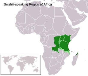 Swahili Languages Map