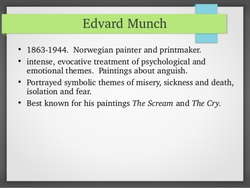 Edvard Munch - Expressionism