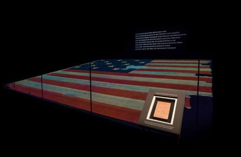 Flag of 1814 and Francis Scott Key's Star Spangled Banner