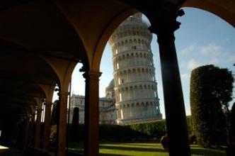 Leaning Tower of Pisa framed