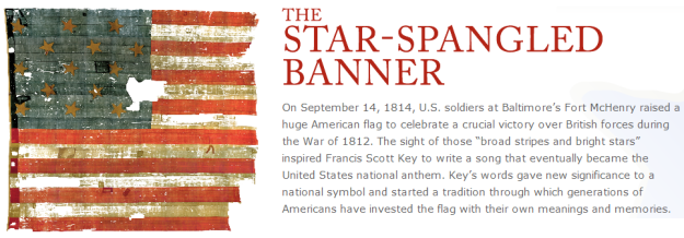 What does the Star Spangled Banner symbolize R1ymArUU