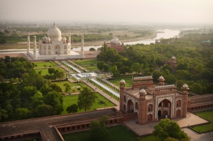 Taj Mahal and Garden