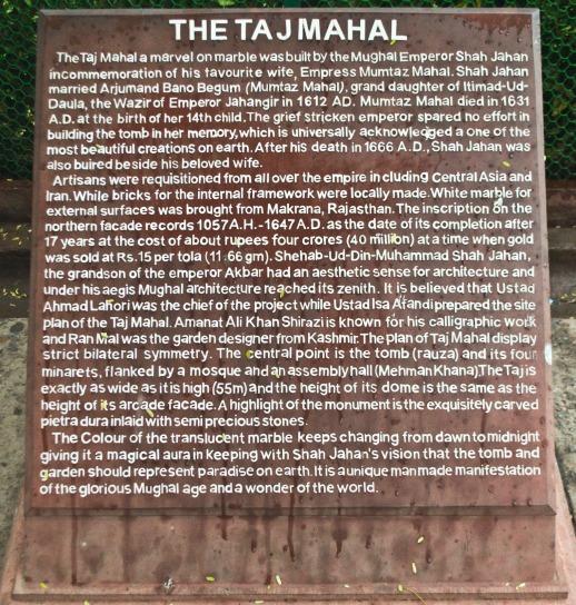 Taj Mahal Sign