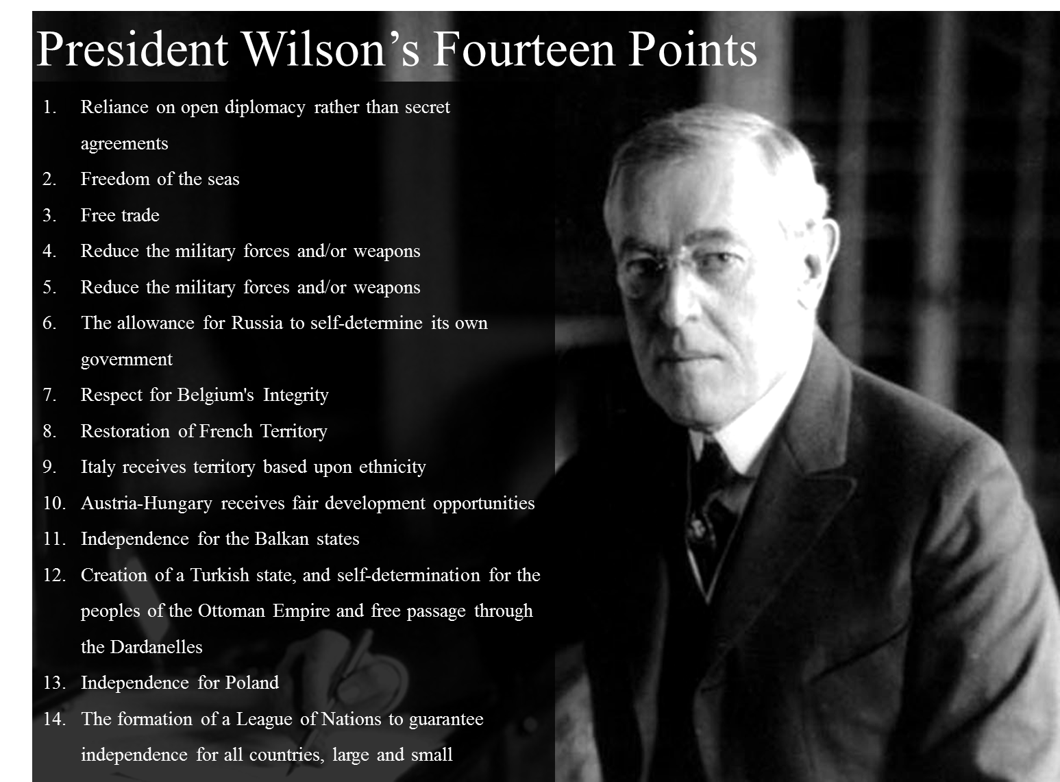 an essay on president woodrow wilson and the league of nations Free and custom essays at essaypedia  was a clause stating that a league of nations would be  woodrow wilson was the president of the united.