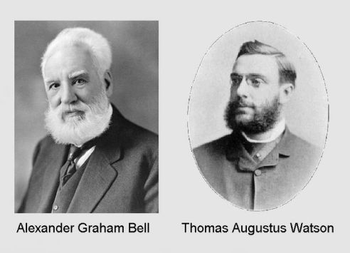 Alexander Graham Bell and Thomas Augustus Watson