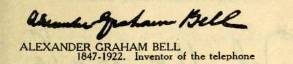 ALexander-Graham-Bell-Signature