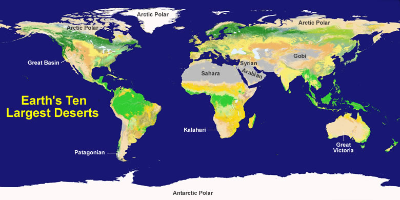 Top Largest Deserts In The World KnowItAll - All deserts