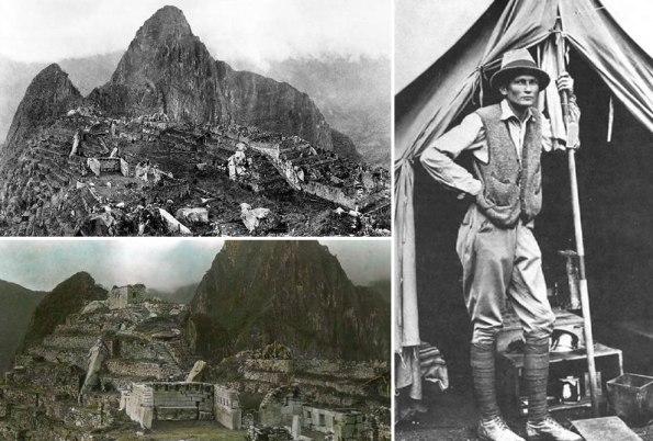 Hiram Bingham at Machu Picchu