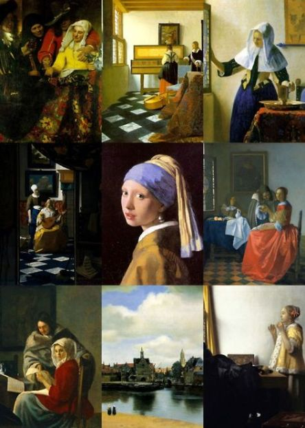 Johannes Vermeer - 9 Paintings