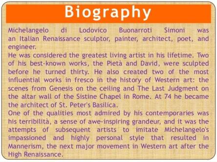 Michelangelo - Biography