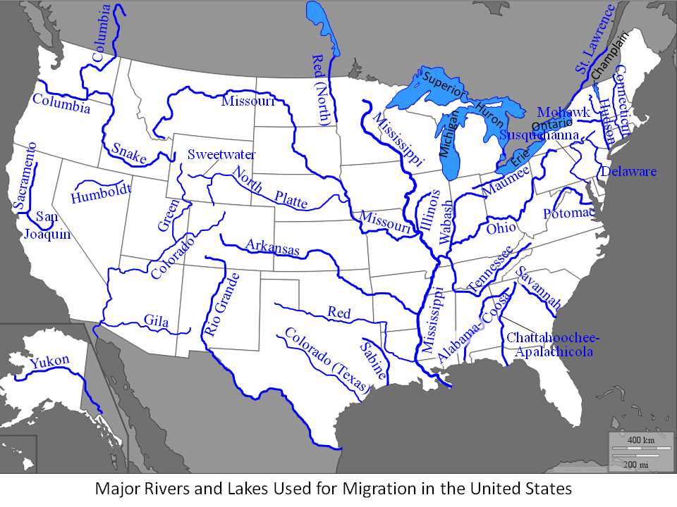 Major Rivers Of The United States KnowItAll - Us rivers map quiz