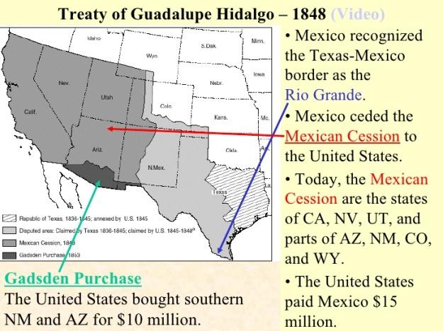 Treaty of Guadalupe Hidalgo 1848