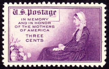 Whistler's Mother - Stamp 1934