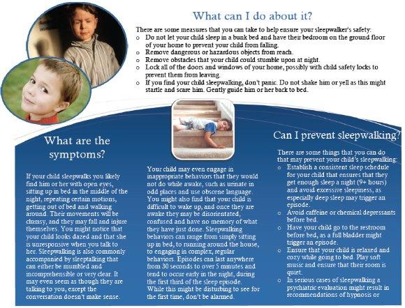 Child Sleepwalking Brochure