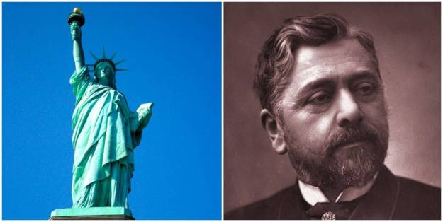 Gustave Eiffel and Statue of Liberty