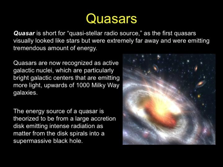 what is a quasar