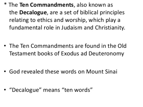 Ten Commandments Meaning