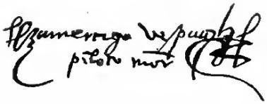 Amerigo Vespucci signature