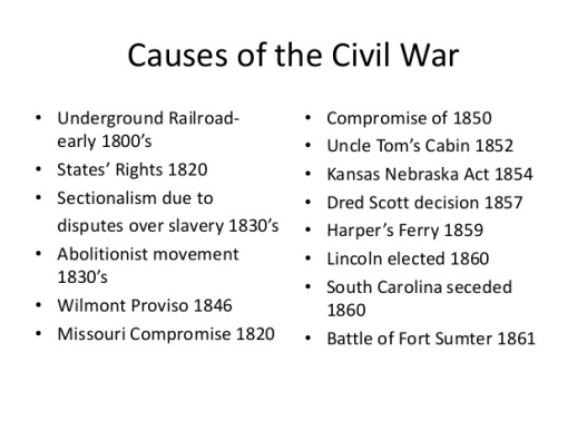 essay on causes of american civil war