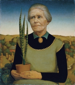 Grant Wood - Woman with Plants (1929)
