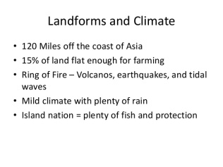 Japan Landforms and Climate