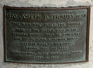 Joseph Strauss Plaque