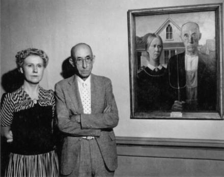 Models of American Gothic - Grant Wood