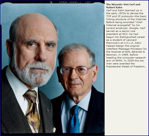 Robert E. Kahn and Vinton Cerf