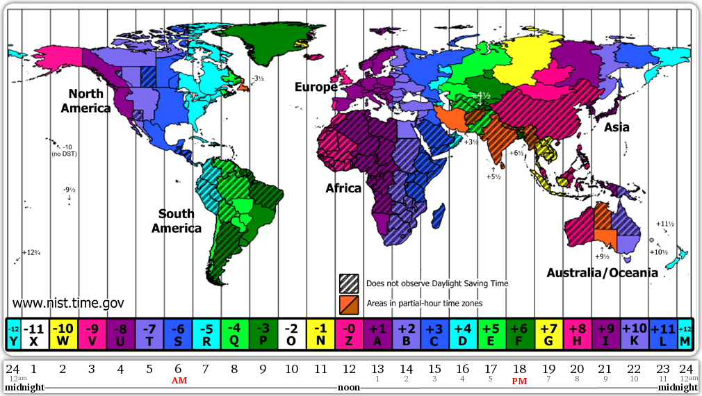 world time zone map gtm and utc know it all