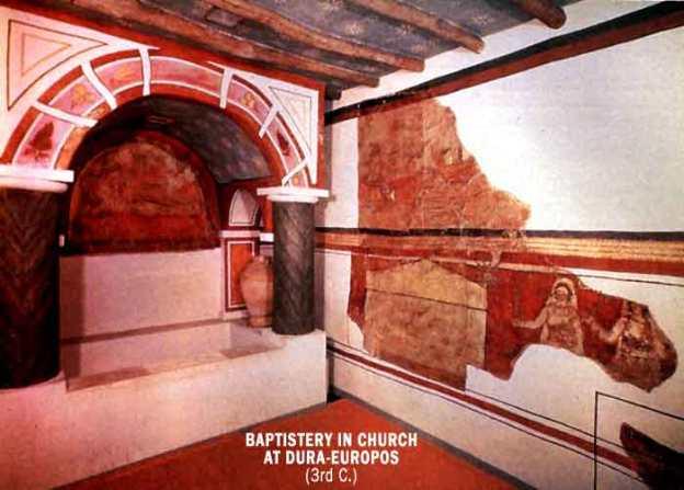 Dura-Europos - Baptistery in Church (3rd C.)