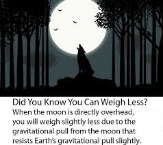 Why do you weigh less when the Moon Overhead