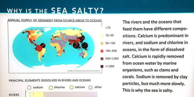 Why is the sea salty - Elements in Rivers and Seas