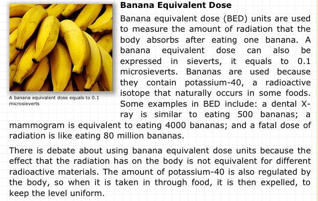 Bananas are they radioactive dating 4